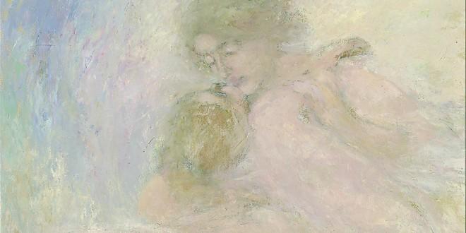 Charles de Belle, Le Baiser, avant 1926. Huile sur bois, 91 x 84,3 cm. Musée national des beaux-arts du Québec 1934.570. Photo Idra LABRIE