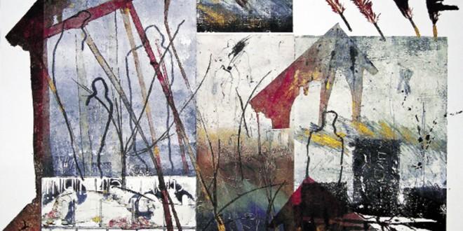 Techniques : collagraphie. Dimension : 56 cm x 76 cm. Année : 2013. Les murmures du silence