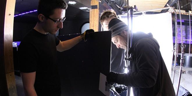 Équipe de tournage de Spirafilm pendant le projet Tourne à Québec. Photo Manon JACQUES