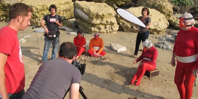 Photo du plateau de tournage du film Spationaute. Le film est disponible sur le DVD de Bazzart (voir page 5)