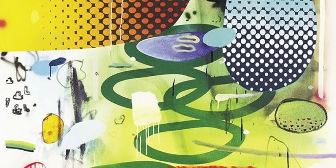 Dan Brault. Une marche au jardin, 2013. Acrylique et huile sur toile, 137 x 122 cm. Collection Desjardins d'œuvres d'art.