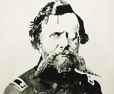 Civil WandRs, 151 x 120 cm. Gesso noir sur toile, 2012