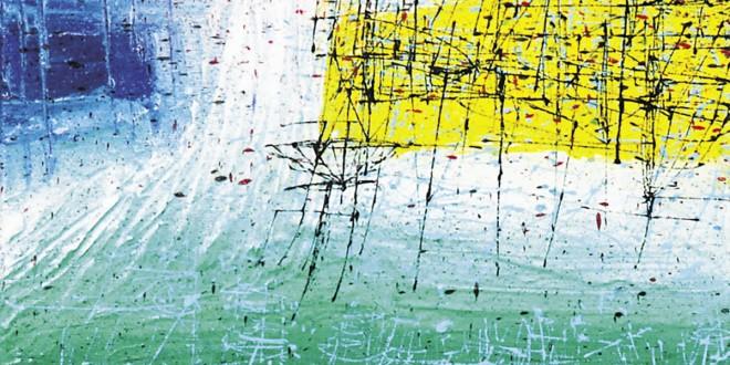Projeté dans l'ailleurs, 2013. Technique mixte, 51 x 76 cm. Photo Annie Picard / Galerie Linda Verge