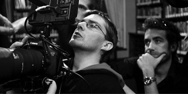 Tournage du videoclip Randall Spear – Rise Above Gauche à droite : Sebastien Chamberland (Dir. photo) Vincent Fournier (Cadreur) Jonathan Guyon (Réalisateur). Photo Elias DJEMIL