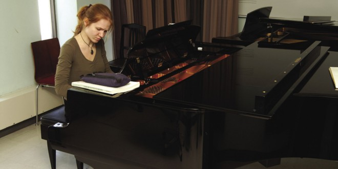 Valeria Timofeeva, étudiante au Conservatoire de musique de Québec. Photo © Antoine Caron
