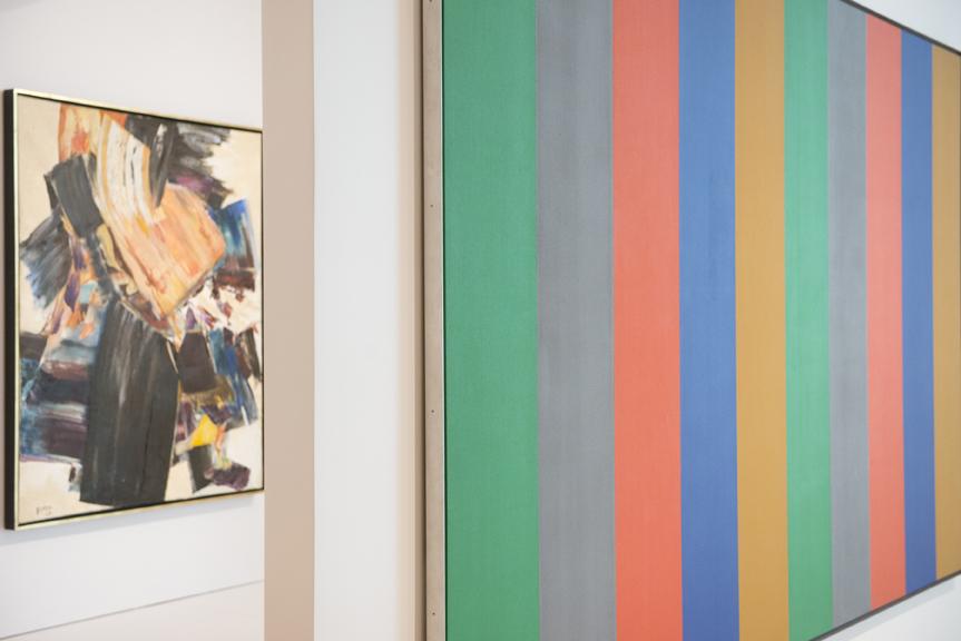Tableaux appartenant à l'exposition de Ferron à BGL. Art contemporain du Québec. 22 juin 2016. Crédit photo : Jean-François Gravel.