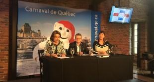 De gauche à droite, Caroline Roy (vice-présidente du bureau Léger à Québec), Alain April (président du conseil d'administration), Mélanie Raymond (directrice générale). 8 juin 2016. Crédit photo : Sabrina Lalonde