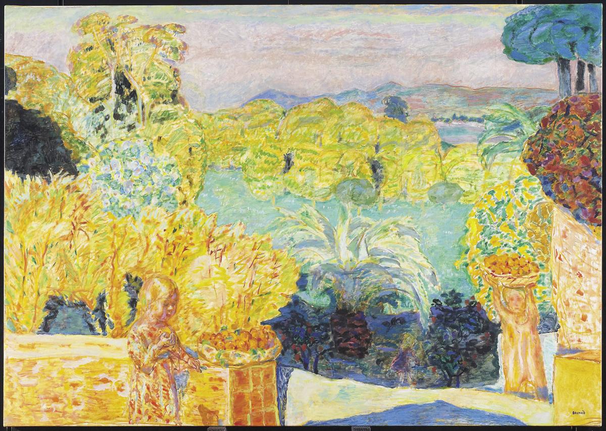 Pierre Bonnard, Paysage du midi et deux enfants, 1916-1918. Huile sur toile, 139,1 x 198,1 cm. Art Gallery of Ontario, Toronto, don de Sam et Ayala Zacks, 1970 (71/62)