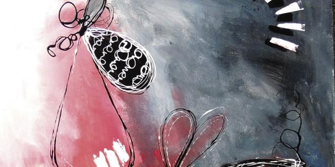 Motif de Motus et barbapapa, 2015. Acrylique sur toile. Collection Motus et Bouche cousue.