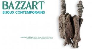 """Erratum : les crédits vont à Anne-Marie Rébillard. """" Nature Morte """", Collier, 2015. Matériau composite à base de bois, pigments, résine et coton. Photo Michel Gauvin."""