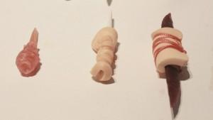 Détails des pièces exploratoires  de la première année de Labo de la joaillière Marie-Maude Brunet. Crédits photo : Sevia Pellissier